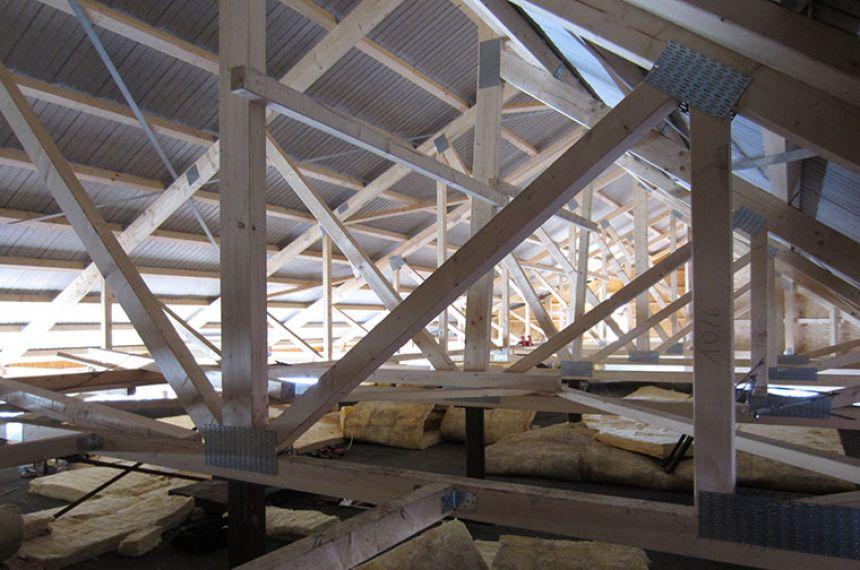 Alte Eisbahn Lankwitz - Neubau eines Schallschutzdachs, Fertigstellung 2015